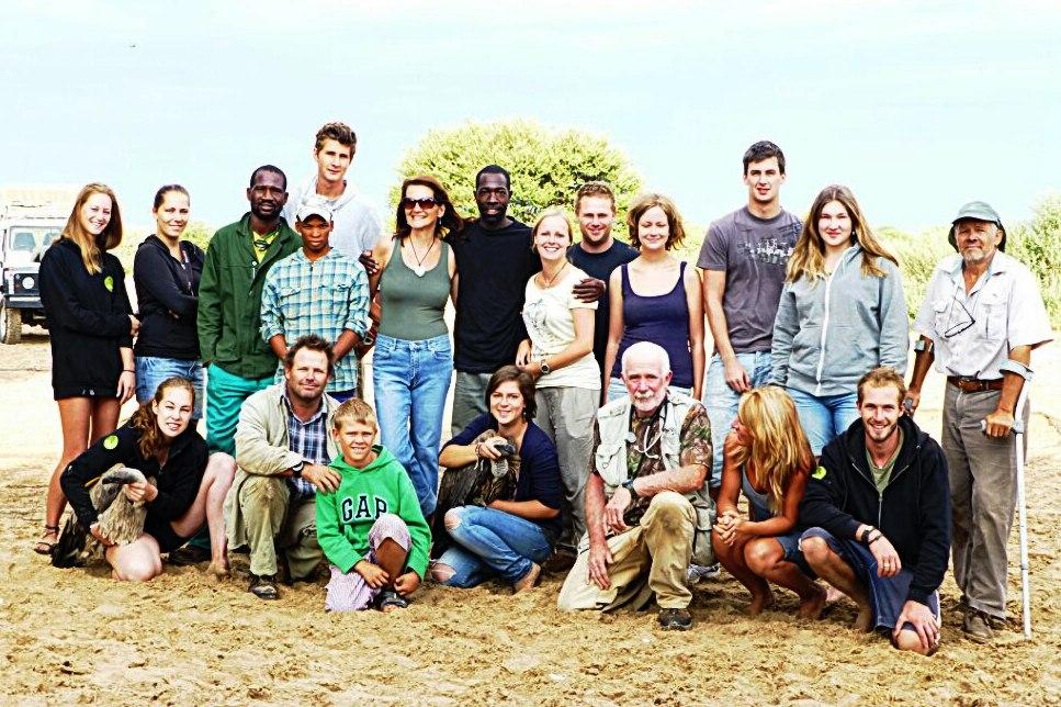 Geierberingung in Botswana Afrika