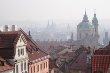 Aussicht von der Burg auf die Prager Altstadt