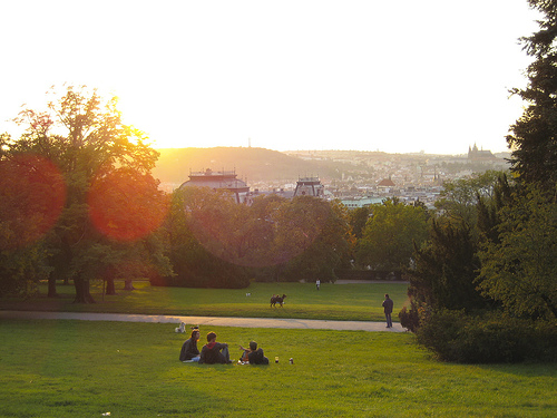 Sonnenuntergang in Vinohrady