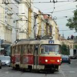 Straßenbahn in Vinohrady - Prag