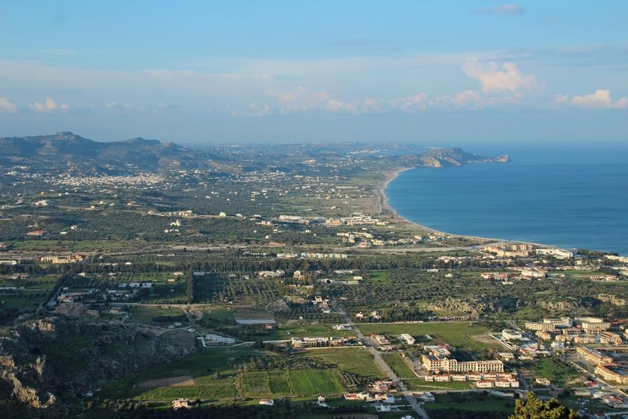Aussicht vom Berg Tsambika auf Kolympia