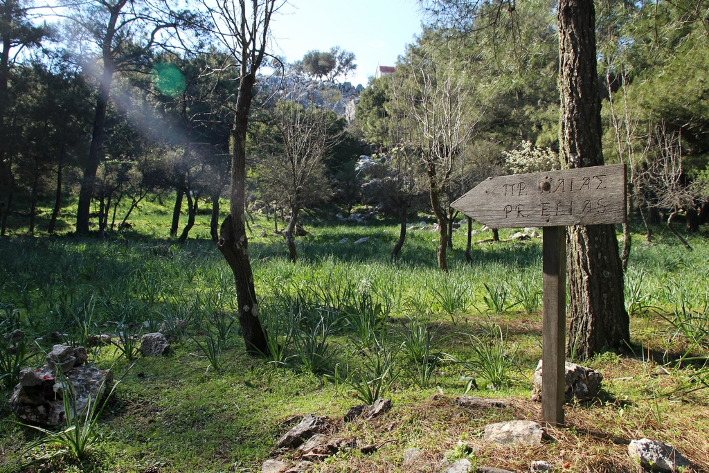 Aufstieg zum Profitis Ilias auf Rhodos