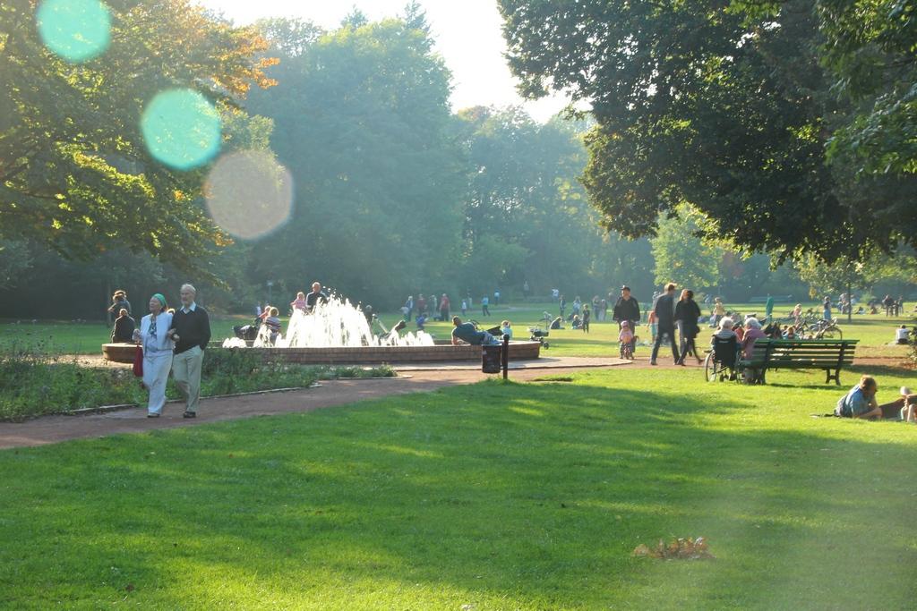 Der Bürgerpark in Pankow im Norden Berlins