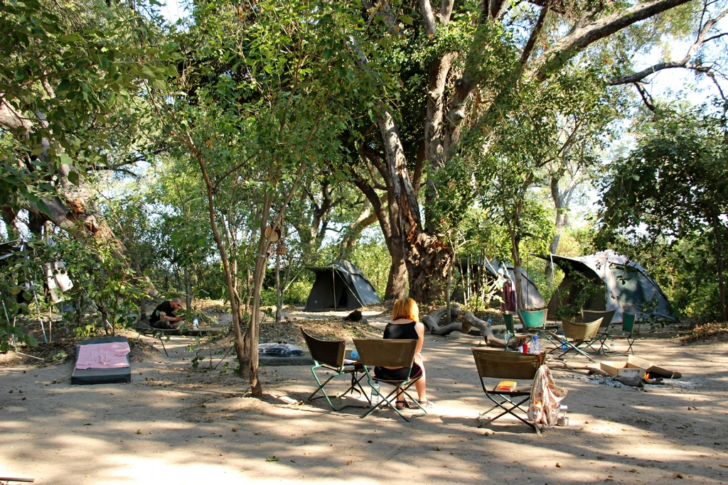 Camp bei der Safari im Okavango Delta