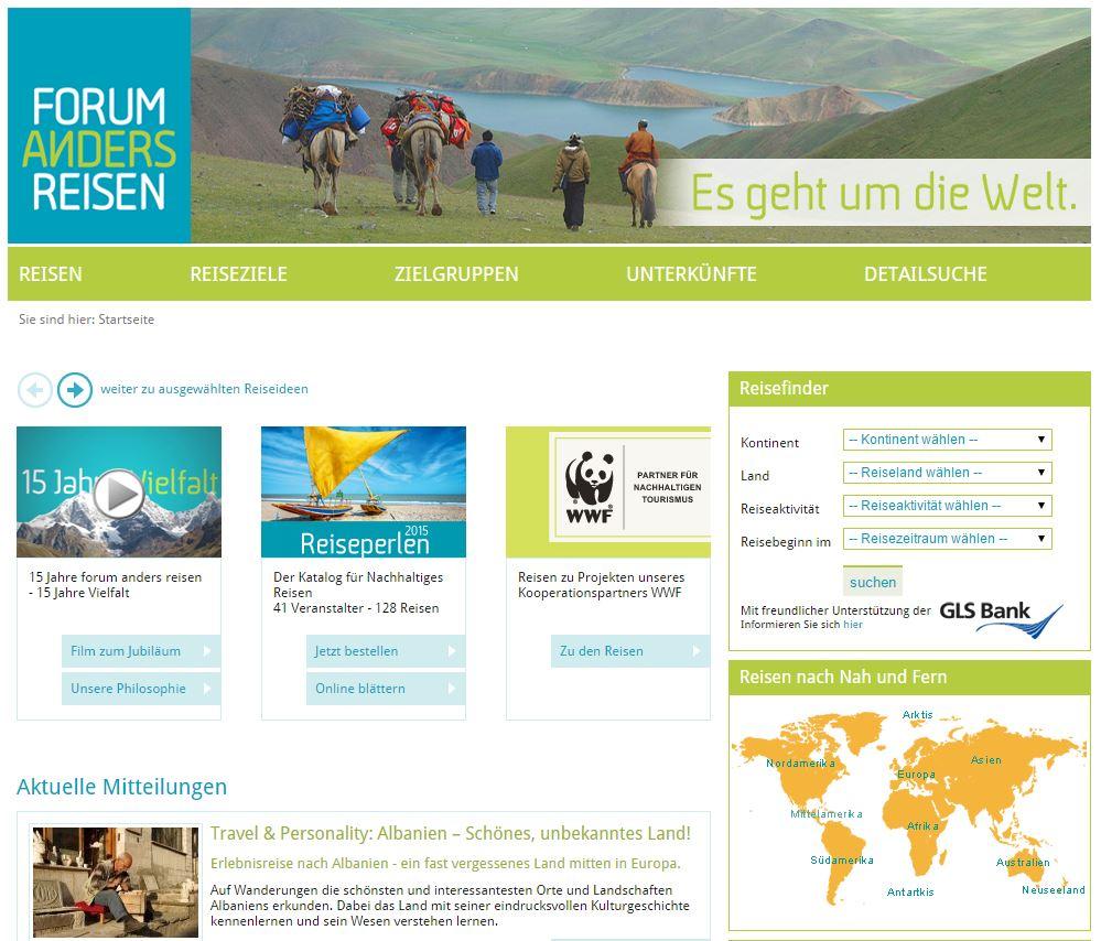 Ökotourismus beim Forum Anders Reisen