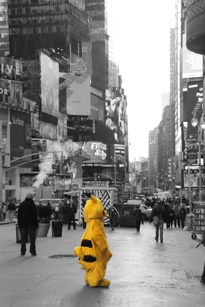 New_York_Times_Square_bw
