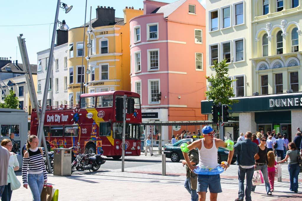 Die Stadt Cork auf dem Roadtrip in Irland