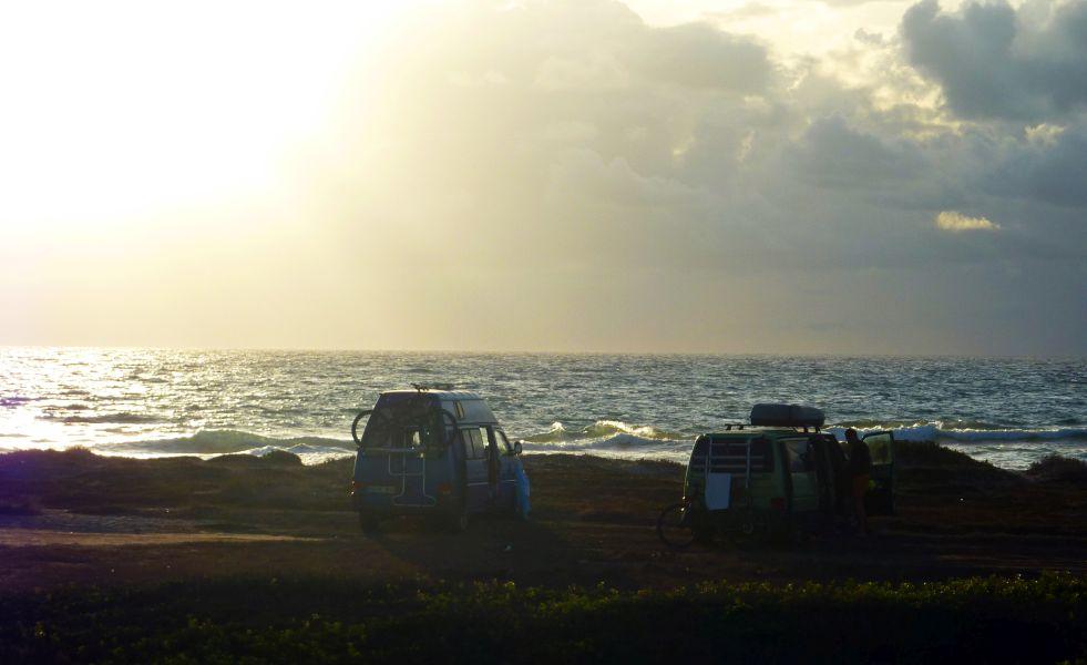 Camping am Strand auf Sardinien