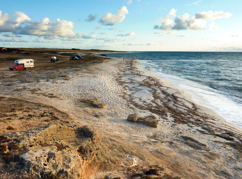 Campen direkt am Strand auf Sardinien