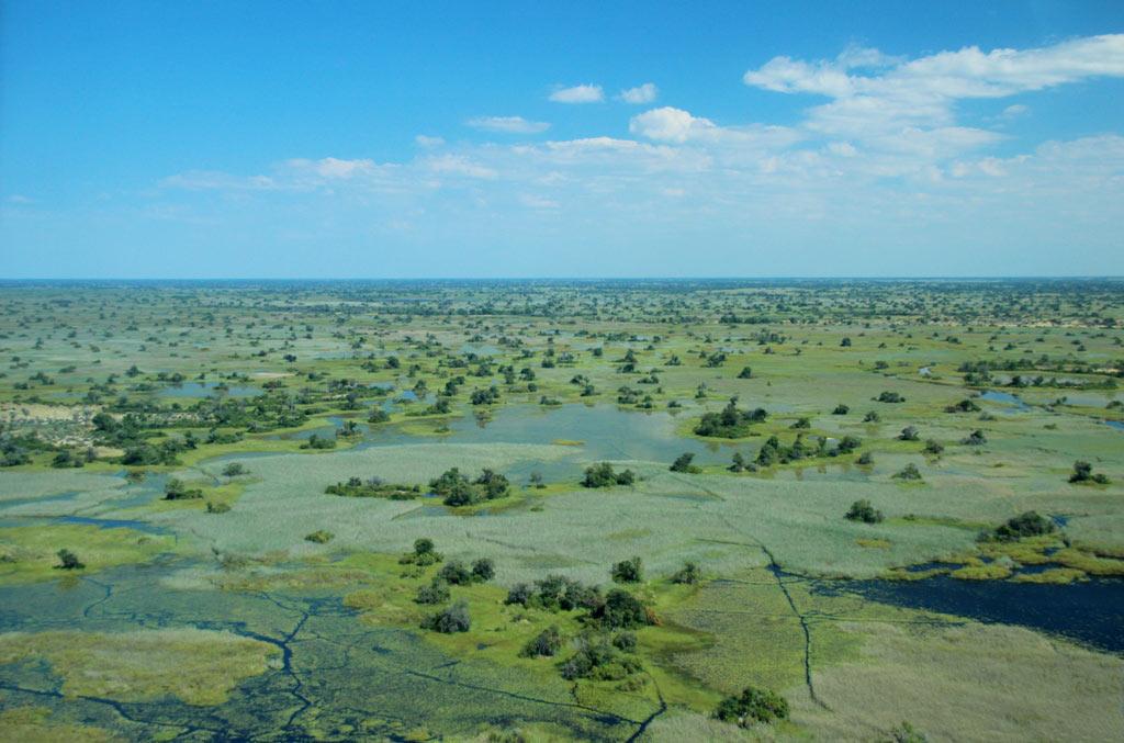 Eine unendliche Fläche aus Überschwemmungsgebieten, Kanälen, Inseln und Seen...
