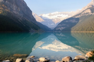 Der berühmte Lake Louise im Banff Nationalpark
