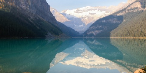Der berühmte Lake Louise im Banff Nationalpark
