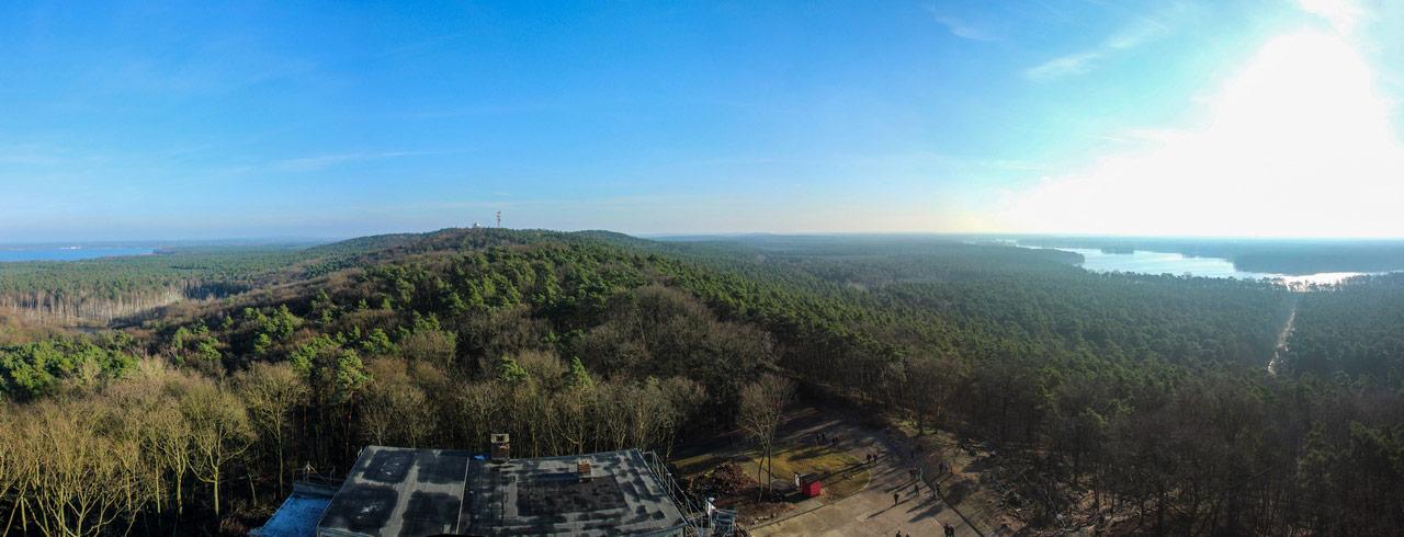 Panorama Aussicht vom Müggelturm