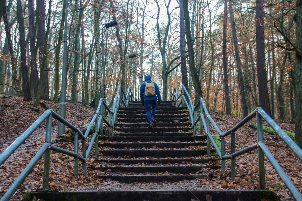 Treppe hoch zum Müggelturm