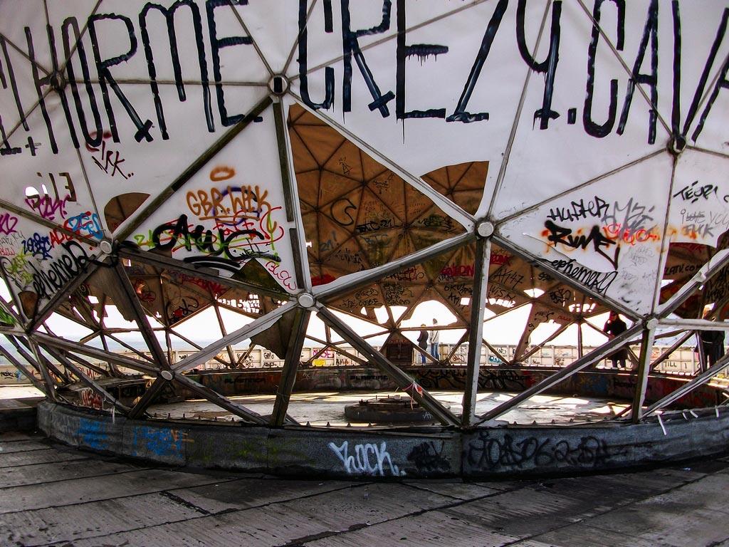 Äußere Kuppel der Abhörstation Teufelsberg