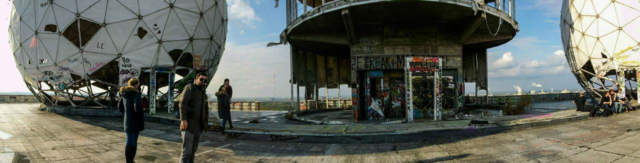 Panorama der Abhörstation Teufelsberg