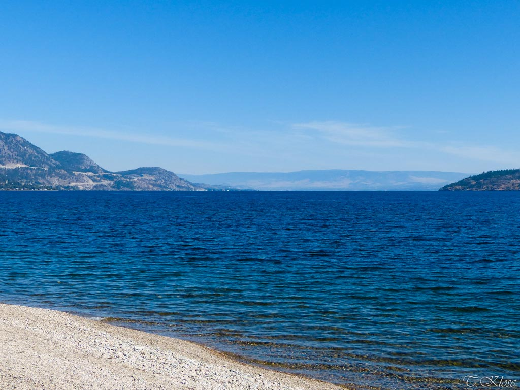 Der Okanagan See in Westkanada