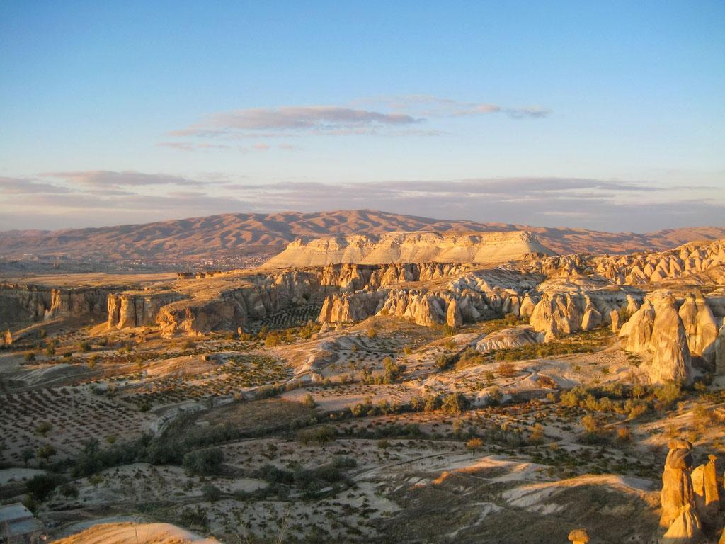 Ausblick über die Landschaft Kappadokiens