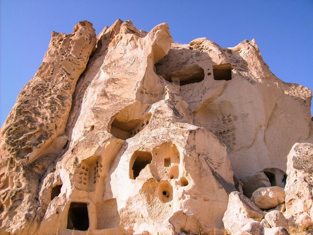 Bewohnte Höhlen in Kappadokien