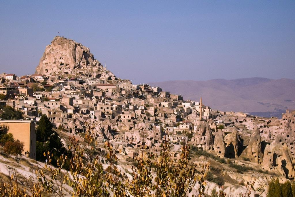 Die Burg von Uchisar in Kappadokien