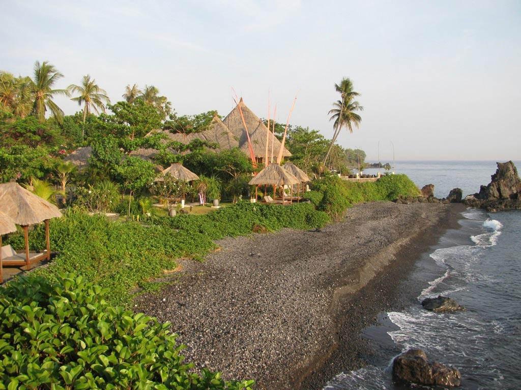Ein kleines Hotel an der Nordküste Balis