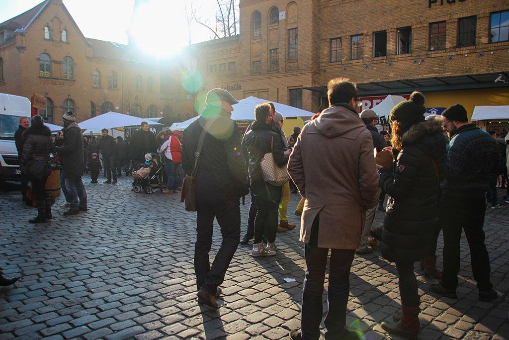 Hof der Kulturbrauerei beim Streetfood auf Achse