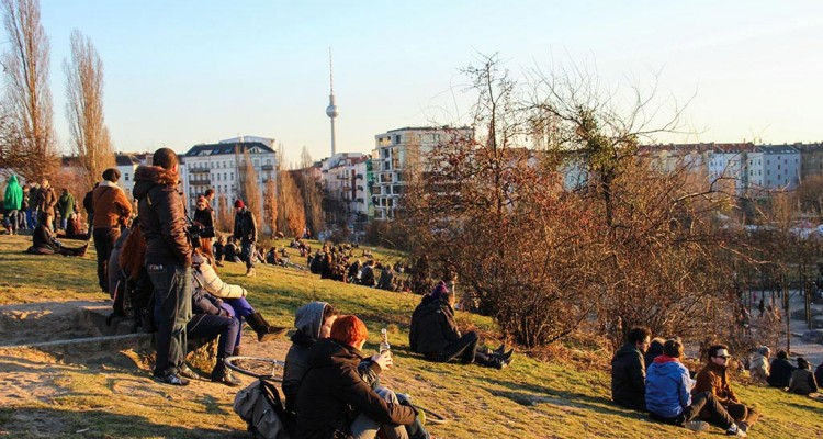 Frühling im Mauerpark in Berlin