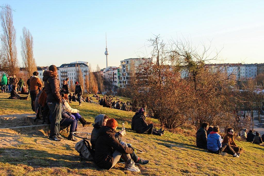 Frühling im Mauerpark in Berlin