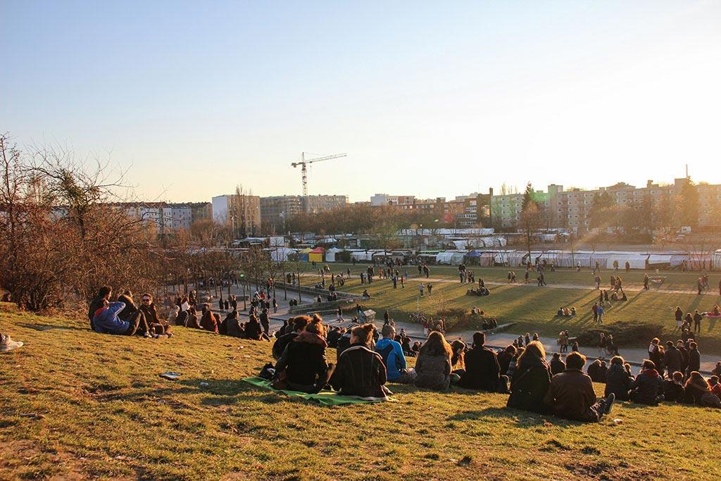 Der Mauerpark im Prenzlauer Berg