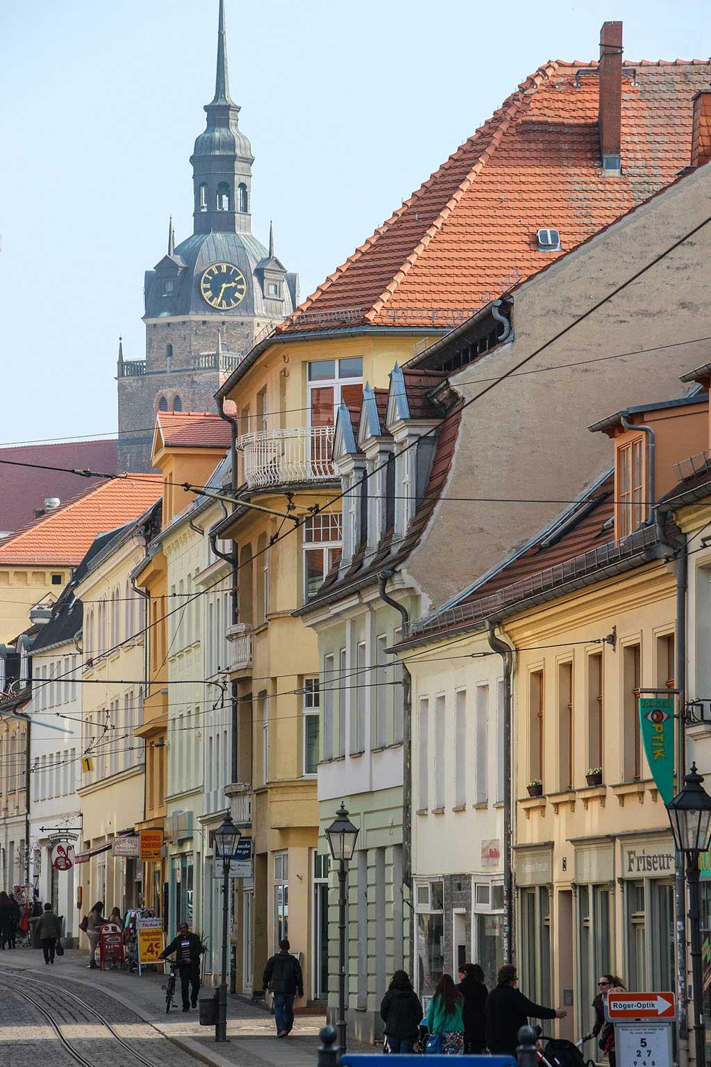Die Hauptstraße von Brandenburg an der Havel