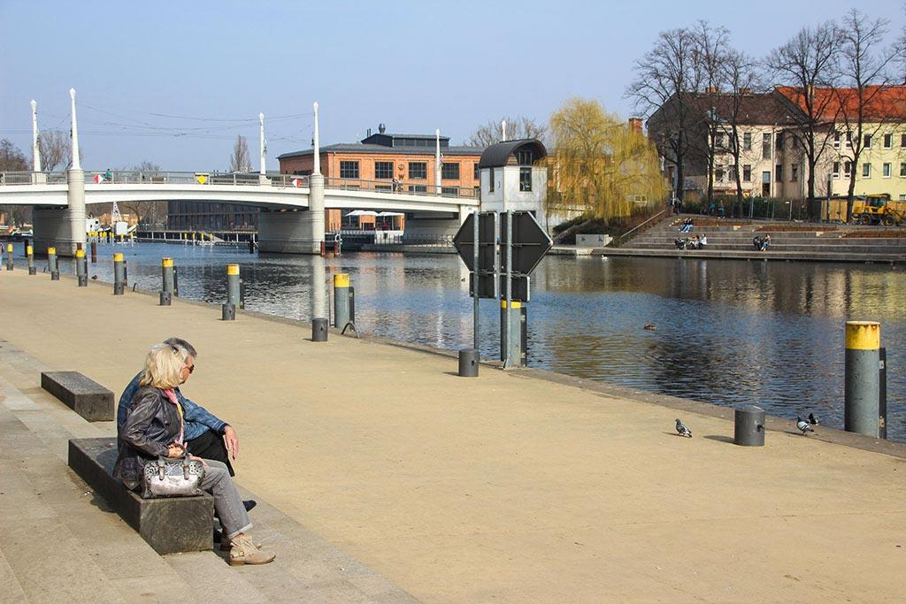 Die Jahrtausendbrücke in Brandenburg an der Havel
