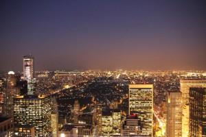Blick vom Rockefeller Center auf den Central Parc