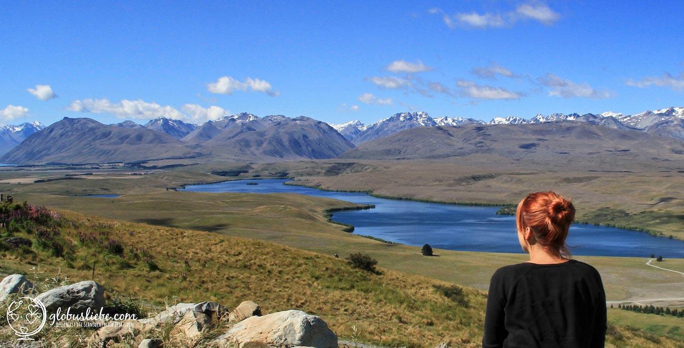 Ausblick über die Berge in Neuseeland