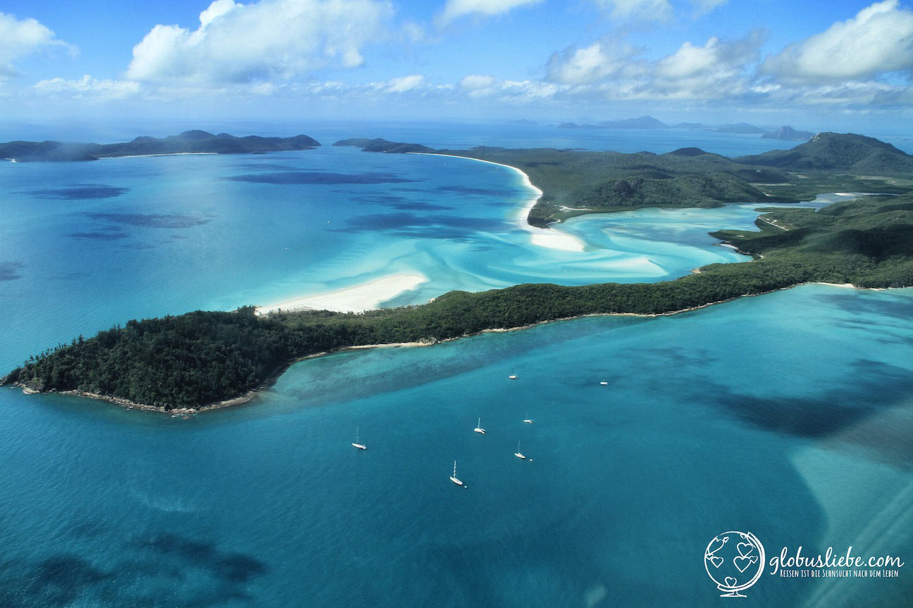 Whitsunday Islands von oben