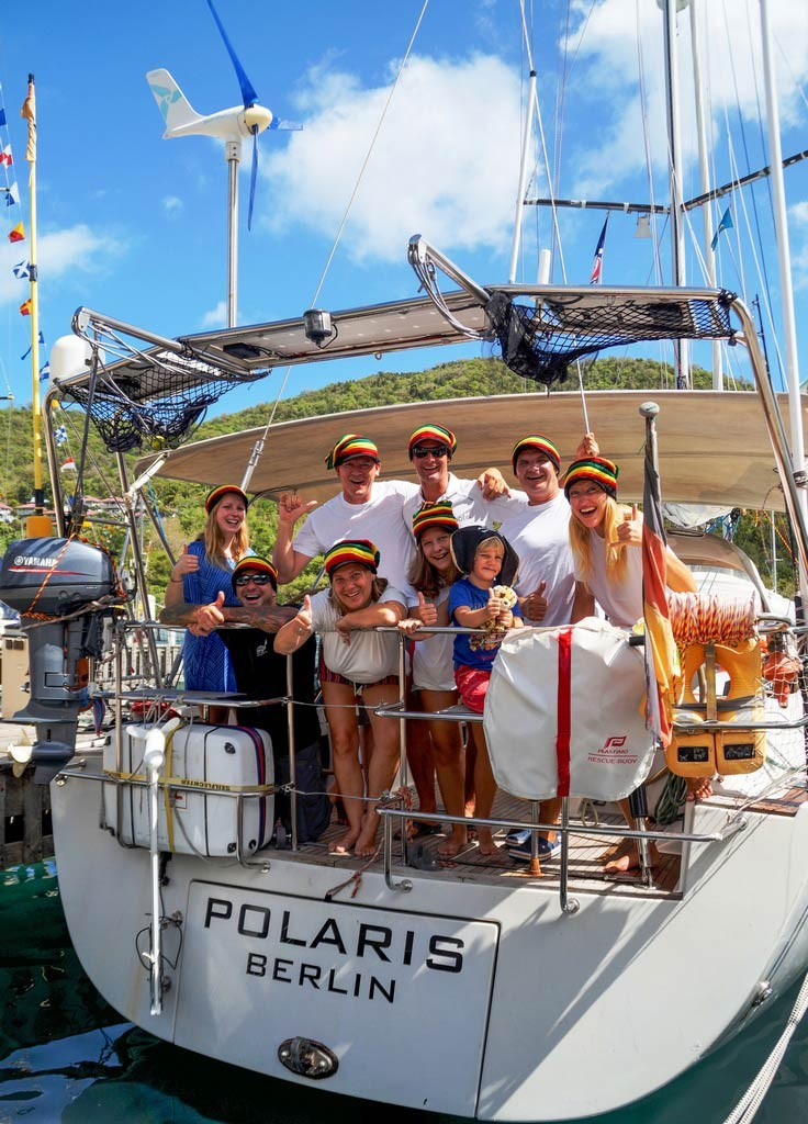 Die Crew der Polaris in der Marigot Bay