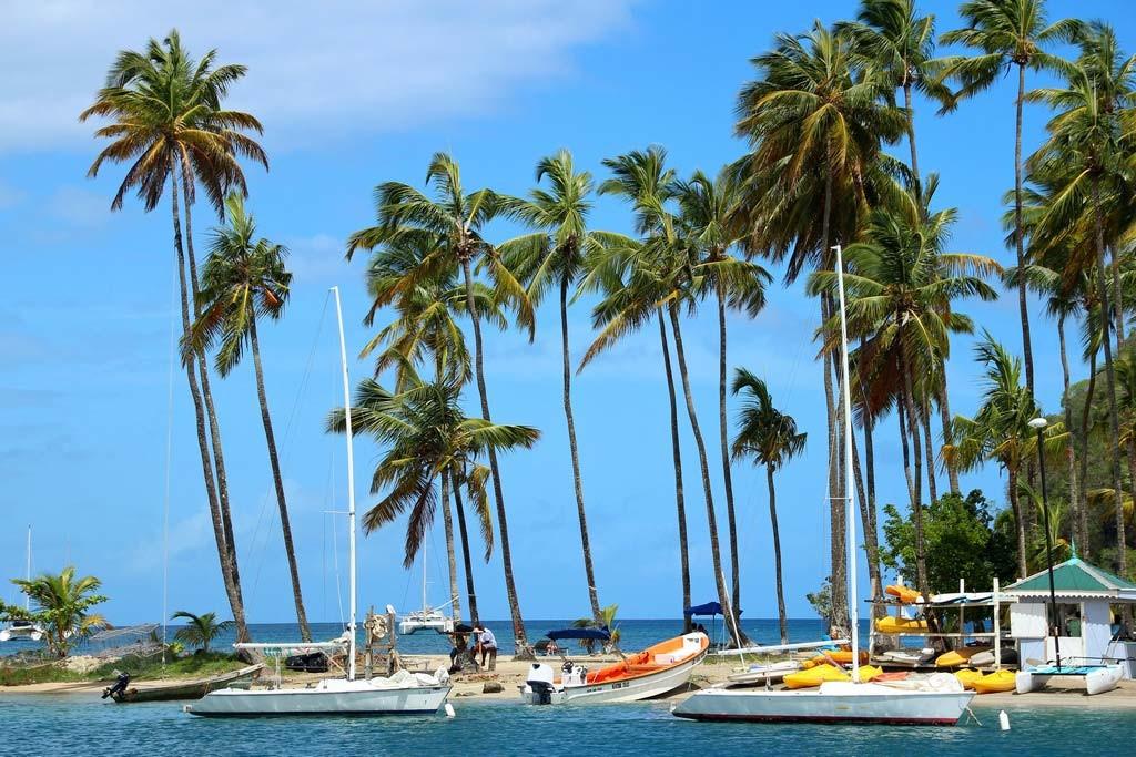 Die Marigot Bay auf St. Lucia