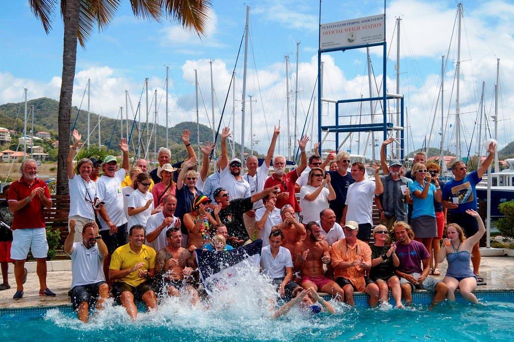 Teilnehmer der WorldARC 2014 in der Rodney Bay