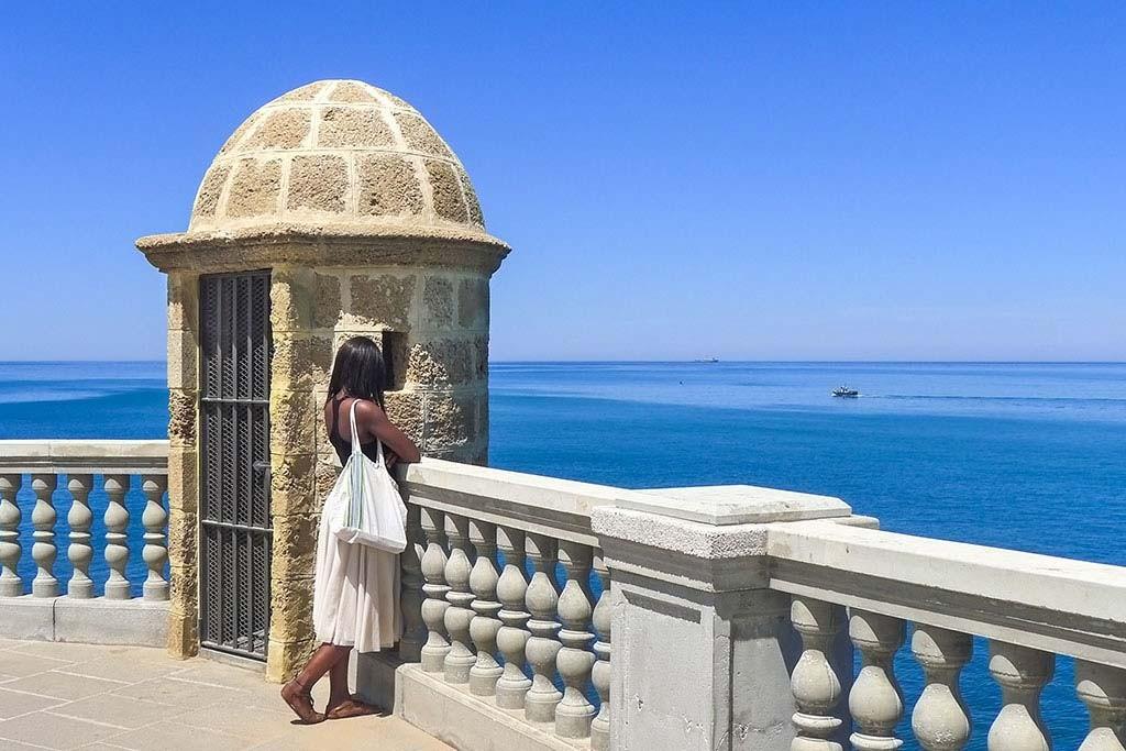 Blick von Cadiz auf das Meer