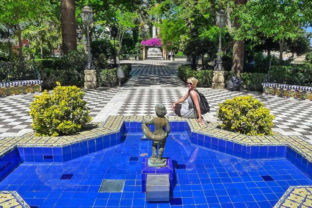 Öffentlicher Park in Cadiz
