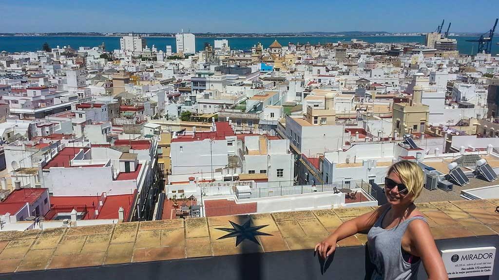 Aussicht vom Mirador über Cadiz