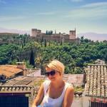 Aussicht über Granada mit Alhambra