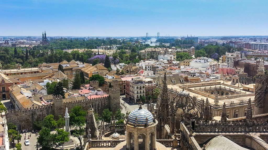 Blick über die Altstadt von Sevilla