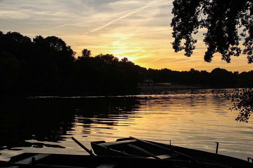 Sonnenuntergang am Plötzensee