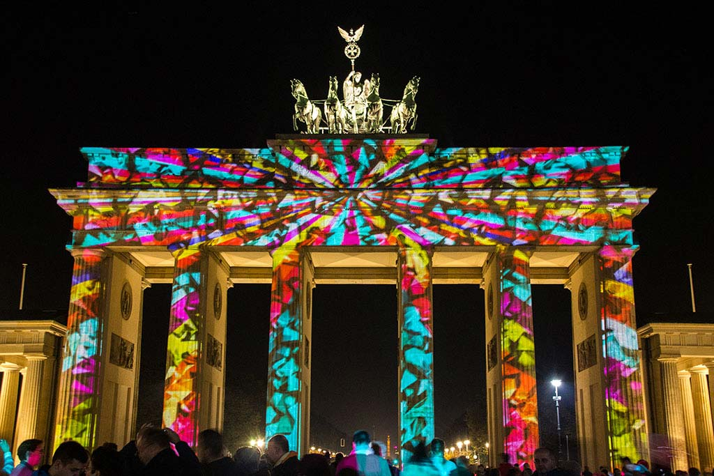 Brandenburger Tor beim Festival of Lights