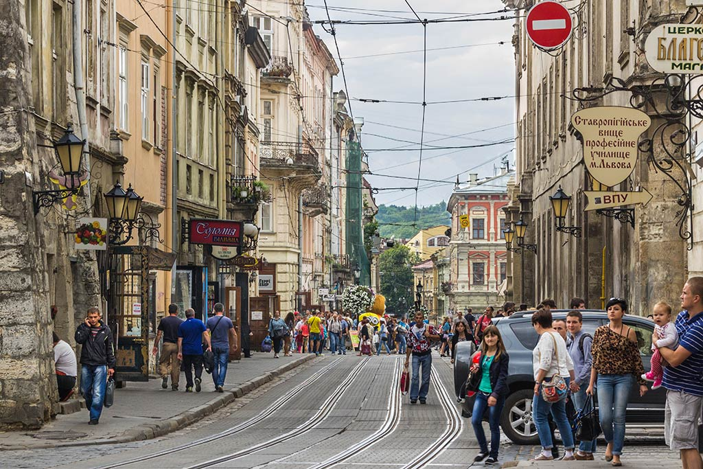 Straßen der Altstadt in Lviv