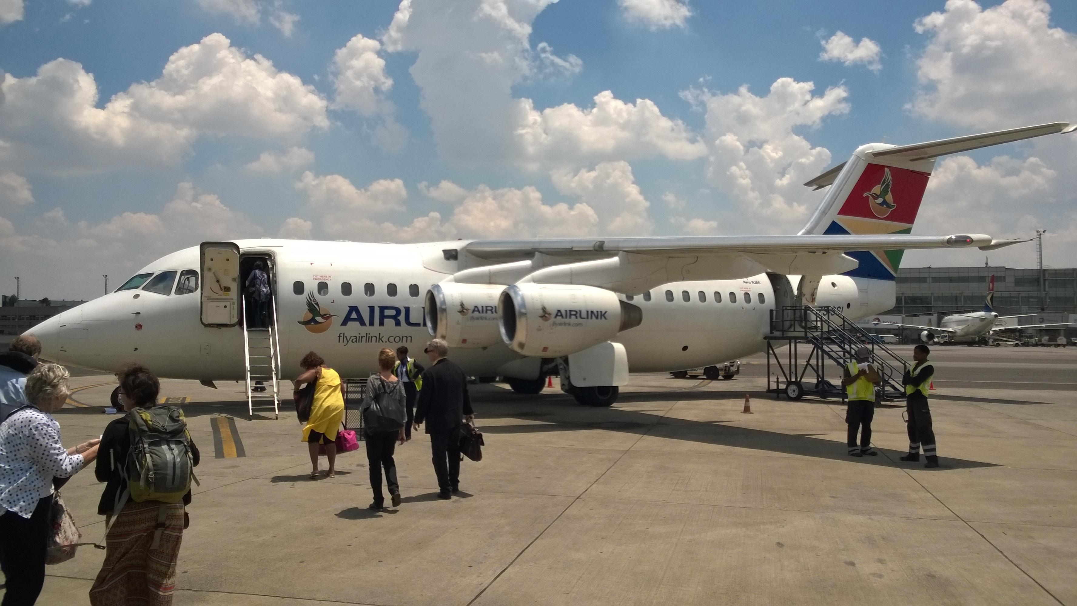 Flug von Johannesburg nach Kasane