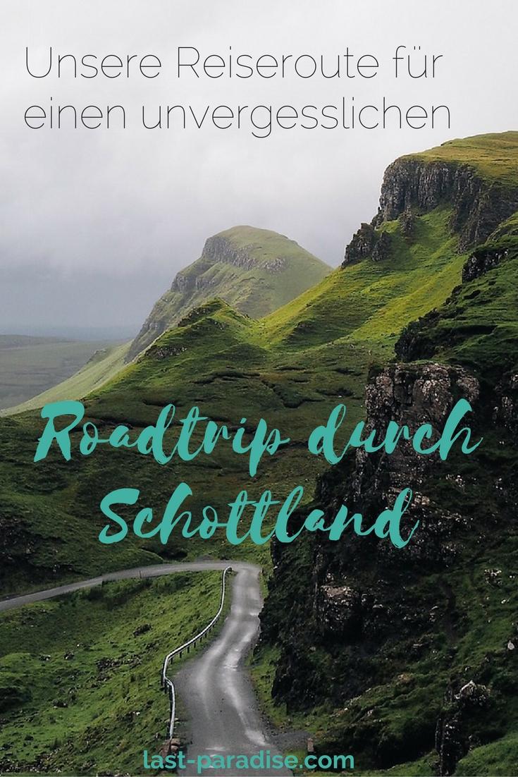 Roadtrip Schottland Reiseroute